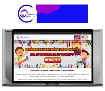 Web Colegio Vicente Aleixandre